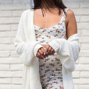 urban outfitters white blake cardigan